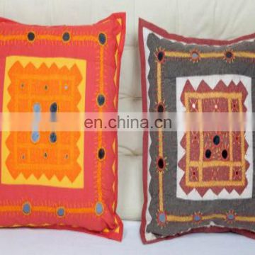 wholesale indian Handmade Designs Living Room Sofa Home Decor Cushion Cover Decorative Pillow Cover