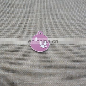 personalized soft enamel paw logo pet collar id tag for promotion