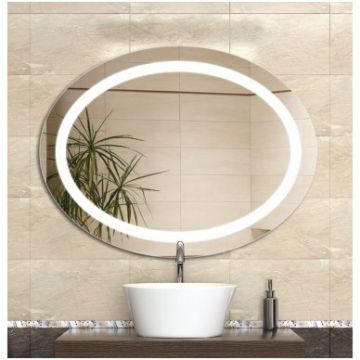 Waterproof fog-proof LED bathroom illuminated mirror