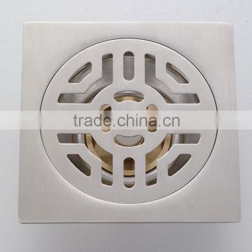 Stainless Steel Floor Drain B3095-1.hot sale item,with brass bottom,single use