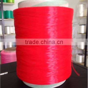 High quality 100% dyed polypropylene/pp multifilament yarnfor webbing 900D/144F