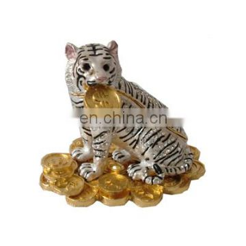 metal tiger jewelry box for wedding gifts items