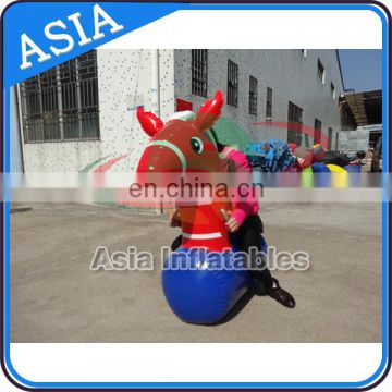 Kids & adults inflatable pony hops / jumping horse for family party