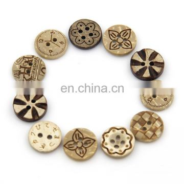 Hot 4 holes 12mm Custom Nice Crafts Coconut Buttons for