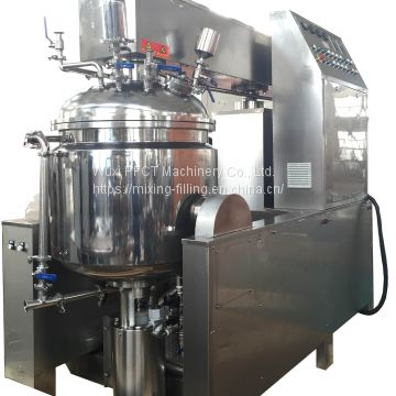 ZJR-350 pharmaceutical ointment vacuum homogenizing mixing machine with bottom homogenizer