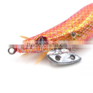 CHS012 electroplating body squid jig 2.5# hook stainless steel for octopus fishing bait