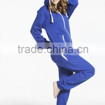 Wholesale Solid Jewelry Blue comfy unisex Plain hooded Onesie