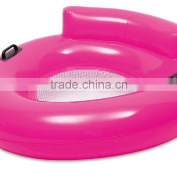 2015 inflatable swimming seat ring / water sofa chair with net inside / inflatable swim tube