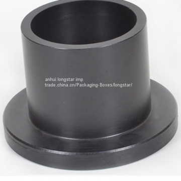 stub end PE flange Rubber joint of HDPE fittings from China