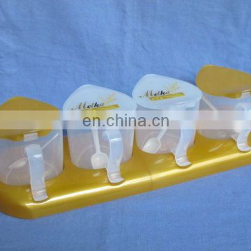 plastic condiment set,food condiment,plastic condiment holder