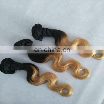 wholesale cheap Two Tone Hair Bundles 12inch Unprocessed ombre Human Hair color