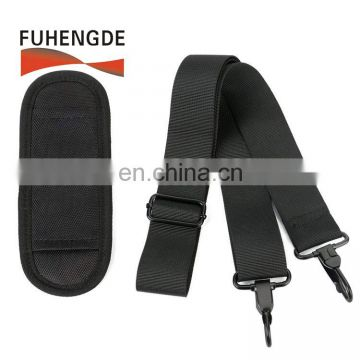 Universal Replacement Shoulder Strap with Adjustable Thick Pad for Bags and Luggage, Padded & Adjustable Bag Strap, Black