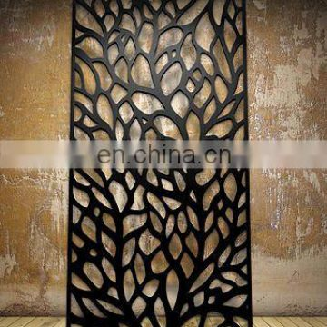 Cheap Hanging Laser-Cut Metal Folding Room Divider Screen With Flowers