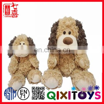 2017 China wholesale sitting kids toys custom cheap plush dog toy stuffed animals for children gift