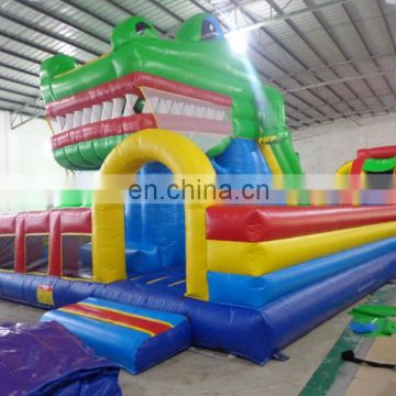 Crocodile Inflatable Fun City, Bounce House With Slide, Inflatable Bounce Castle For Amusement Park