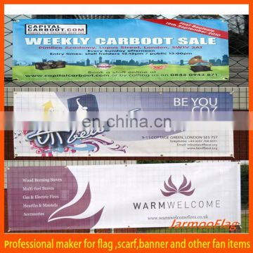 custom promotional large hanging banners flags