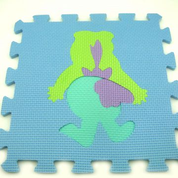 Anti-slip Eva Foam Puzzle Mat Polyester+cotton Printed
