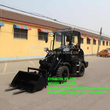 SY908 Front shovel type, European hot sale, mini loader, auxiliary tools