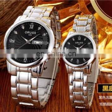 Wholesale high quality calender gold watch mens watch