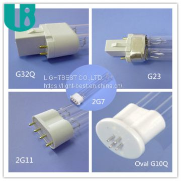 H type UVC bulb 18W tube uv lamp 254nm for vending machines sterilization CE 2g11 socket