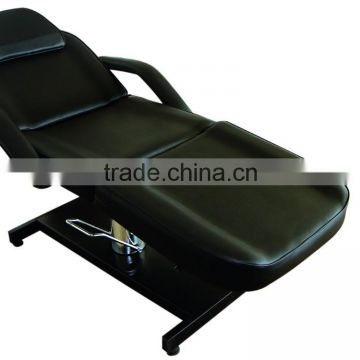 2015 hot supply hydraulic salon beauty bed with high quality iron with chrome base