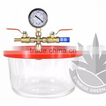 Vacuum & Degassing Chamber Pyrex 1 7/3 Quart BHO Extraction Purge