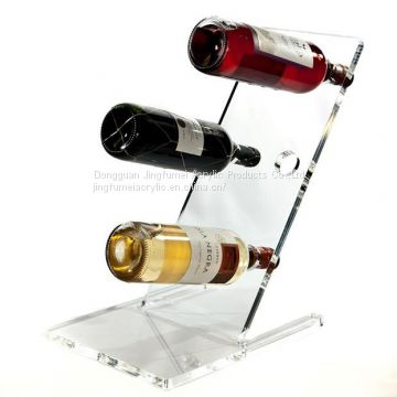 Simple Clear Whiskey Racks L-Shaped Beer Bottle Holder Wedding Wine Stand