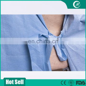 Disposable SMS Sterile Surgical Gown with Knitted Cuff for Medical Use