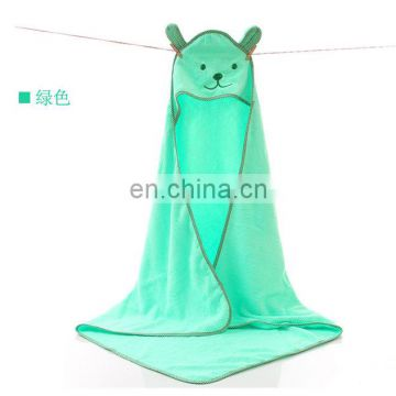 soft summer 100% cotton baby hooded bath towel