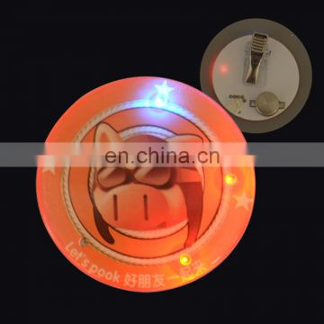 Wholesale cheap wing led flashing pins badges