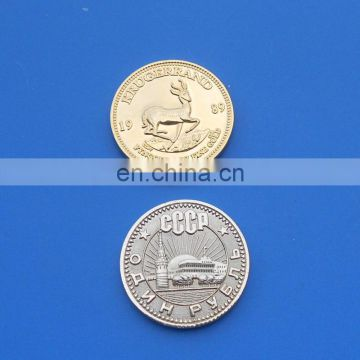 custom design plating gold russia deer metal souvenir coin