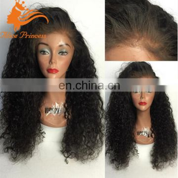 human hair kinky curly lace wig with natural hairline 200%denisty african full lace wig