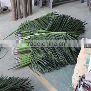 LXY071909 fake coconut palm leaves roof cheap artificial palm tree leaves and branches