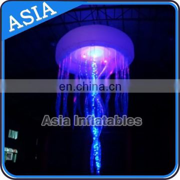 Party jellyfish night lighting/ hanging led inflatable jellyfish
