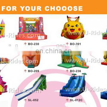 2016 New design inflatable bouncer slide, clown inflatable slide, cartoon inflatable bouncer for kid