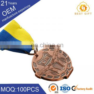 Logo Customized Gold Silver Bronze Metal Sport Medal 50mm Medal Blank Medals