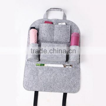 Multipocket Felt Back Seat Beverage Book Toy Diaper Organizer Bag/ Wider Use Car Back Seat Storage Organizer