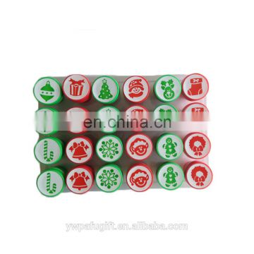 24pack christmas assorted design plastic stamp