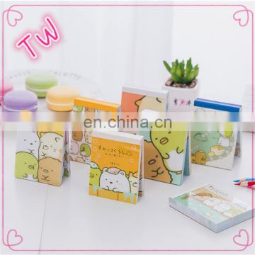 Europe 2018 Top Quality kawaii kids stationery custom size and shape cartoon cute paper sticky note cube pad online shopping