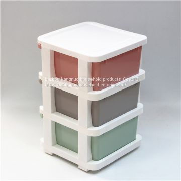NEW type OEM plastic drawer mutil tier storage cabinet with color print transparent storage box
