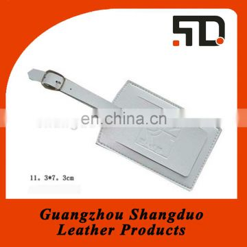 Guangzhou Manufacture Leather Baggage Tag With Adjustable Strap