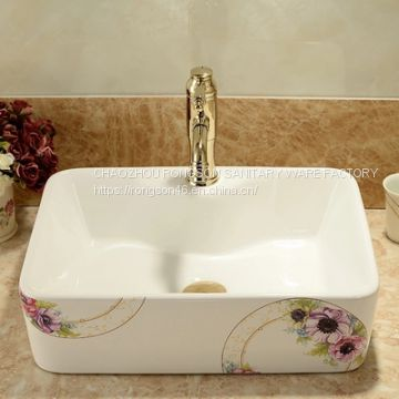 Ceramic color washing art basin