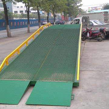 Portable Steel Ramps Blue Red Forklift Dock Plate