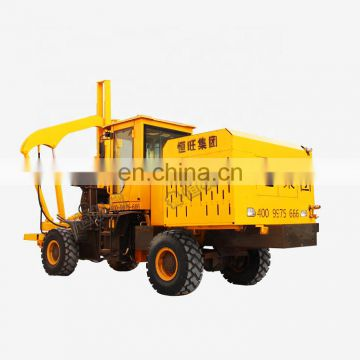 Loaded type wheeled guardrail pile driver for post installation on sale