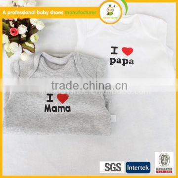 cheap factory I love mama new born baby set baby sleepsuit