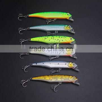 10cm 3d eyes Life-like Bass Pike Swimbait Shad Tackle Minnow plastic fishing lure bait hard