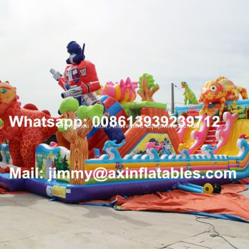 Customized 0.5MM PVC Outdoor Commercial Inflatable Jump Bouncer,Giant Jumping Bouncy Castle Playground For Children