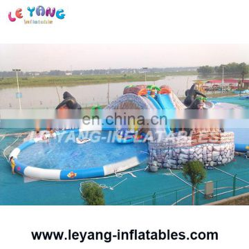 Gorilla Theme water park giant inflatable pool water slide for kids and adults
