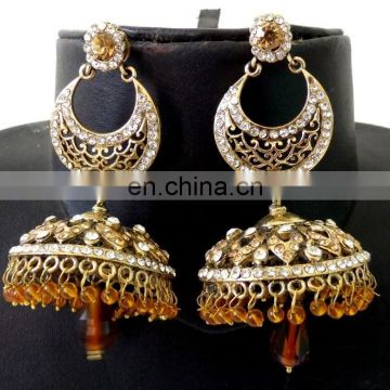Indian antique fashion earrings - Traditional Victorian earring - Wholesale party wear earring - Indian south indian earring