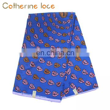 Catherine Wholesale Home Textile Wax With Cotton Lace Print Fabric For Party